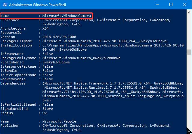 Aplicația Cameră (Microsoft.WindowsCamera) din Windows 10