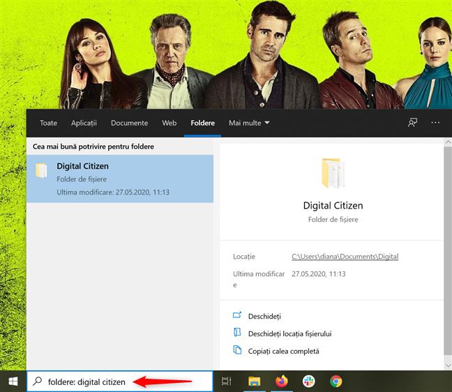 Căutarea de foldere are opțiuni diferite