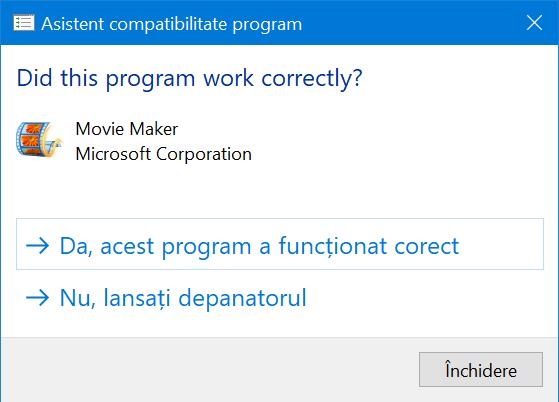 Windows 10 cere feedback în legătură cu noile tale setări de compatibilitate