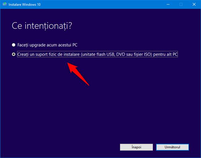 Utilizarea Media Creation Tool pentru a descărca Windows 10