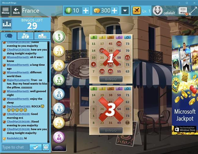 Descarcă un joc de PC gratuit pentru Windows 10: Microsoft Bingo
