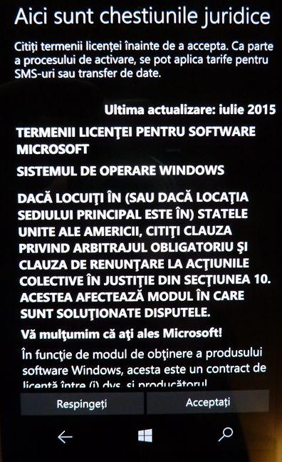 Windows 10 Mobile, configurare, initiala, Lumia, Microsoft, smartphone