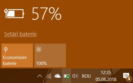 Windows 10, modul de alimentare