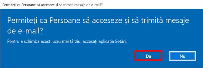 Permite ca Persoane să acceseze și să trimită mesaje e-mail
