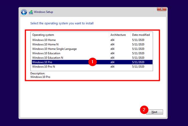 Lista de versiuni și ediții de Windows 10 disponibile pentru instalare