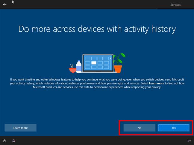 Activarea sau dezactivarea Cronologiei Windows 10