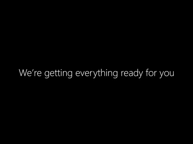 Procesul de instalare al Windows 10 pregătește totul pentru tine