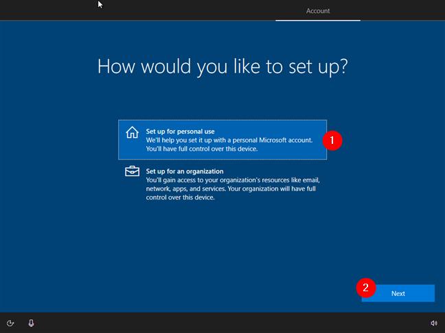 Configurarea Windows 10 pentru uz personal