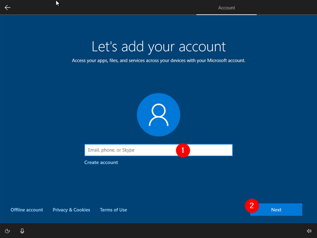 Conectarea la Windows 10 cu un cont Microsoft