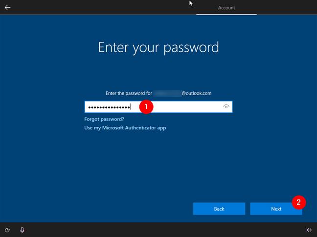 Expertul de instalare pentru Windows 10 îți cere parola contului Microsoft