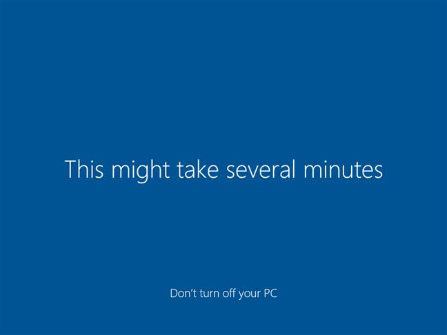 Finalizarea instalării Windows 10
