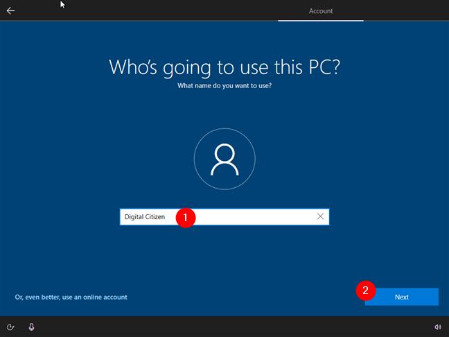 Utilizarea unui cont local în locul unui cont Microsoft