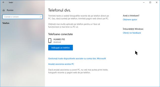 Dispozitivele Android legate de contul tău Microsoft