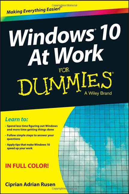 Windows 10 At Work For Dummies, carte