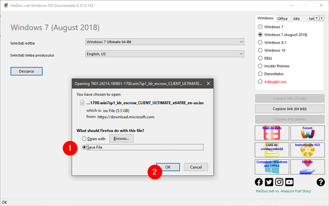 Descărcare ISO Windows