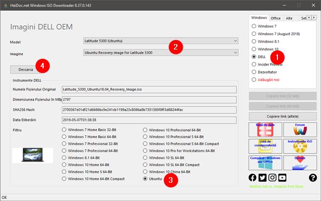 """Descarcă imagini ISO """"din fabrică"""" cu Windows sau Linux pentru DELL"""