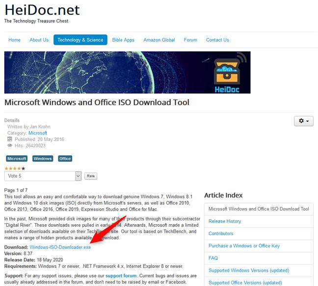 Link descărcare pentru Microsoft Windows and Office ISO Download Tool