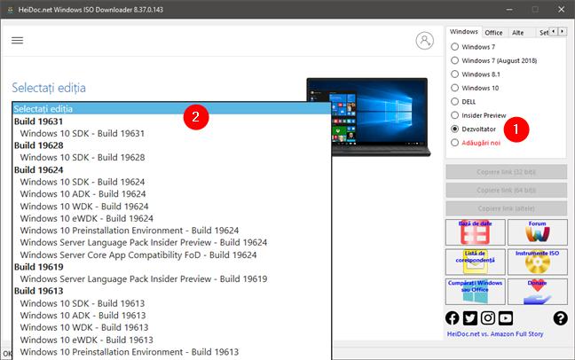Descărcare ISO Windows 10 Developer