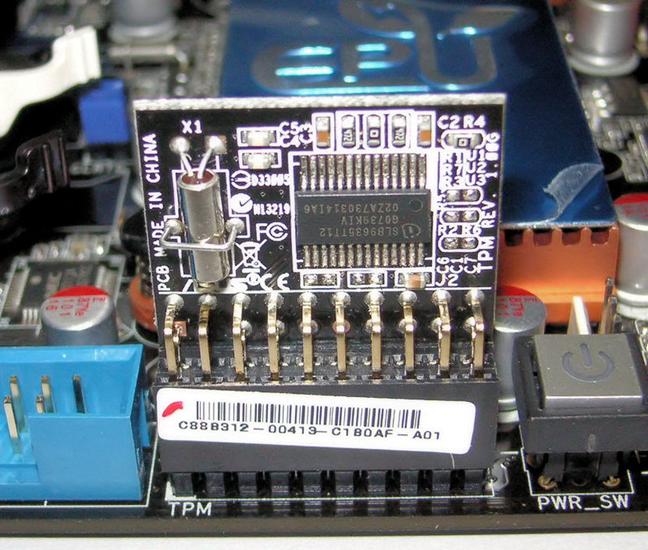 Modul Trusted Platform Module instalat pe o placă de bază
