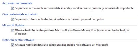 Windows Update, setari, actualizari, configureaza, Windows 7, Windows 8.1