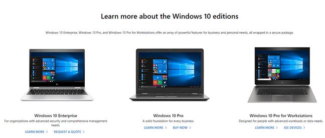 Ediții de Windows 10 pentru clienții companii