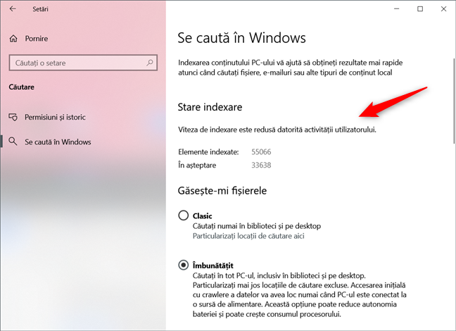 Căutarea din Windows 10 este mai rapidă