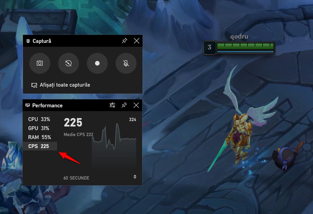 Bara Jocuri Xbox îți arată numărul de cadre pe secundă din jocuri (FPS)