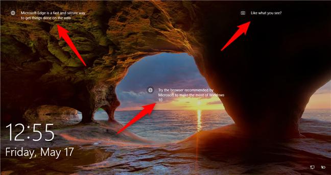 Reclame pe ecranul de blocare din Windows 10