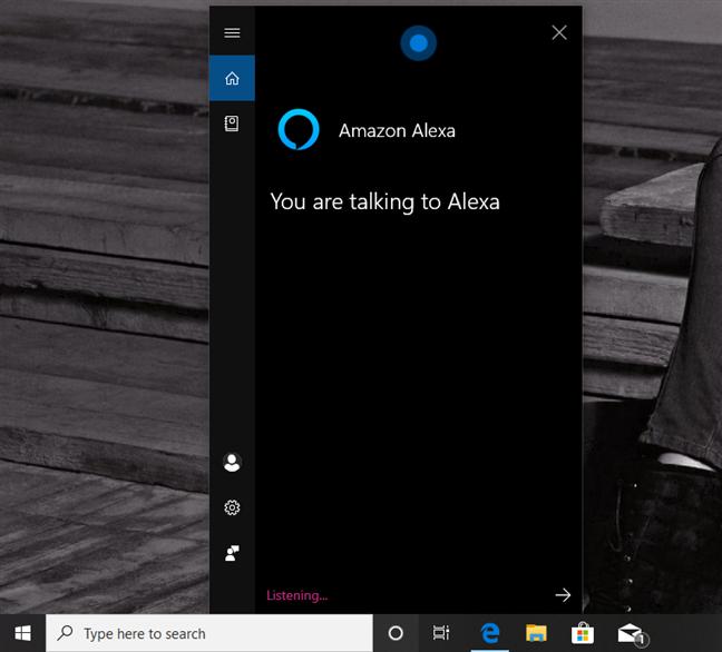 Vorbind cu Alexa prin intermediul Cortanei, în Windows 10