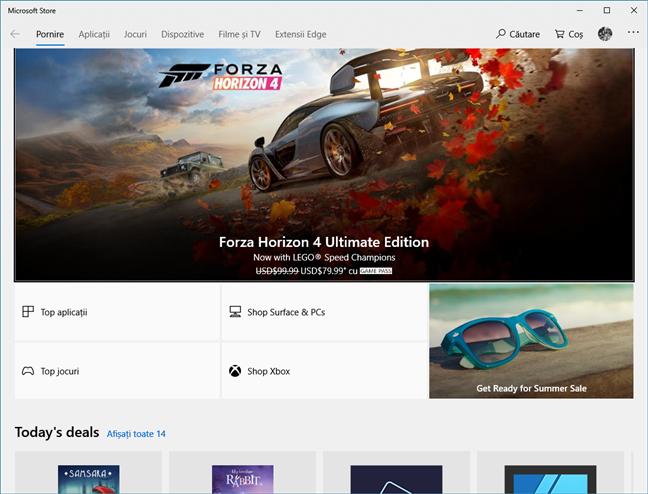 Magazinul Microsoft din Windows 10