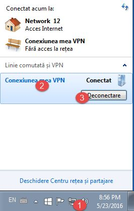 VPN, creaza, conexiune, conecteaza, deconecteaza, Windows 7