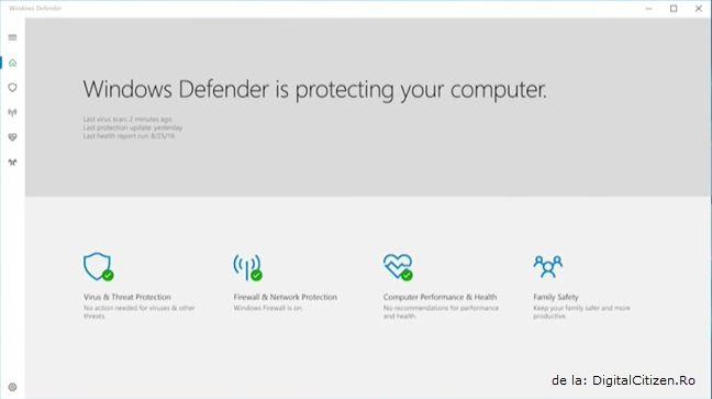 Windows Defender, Windows 10 Creators Update