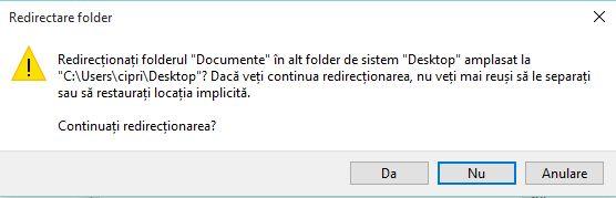 Windows, foldere, utilizator, Documente, Muzica, Descarcari, Desktop, OneDrive, locatie
