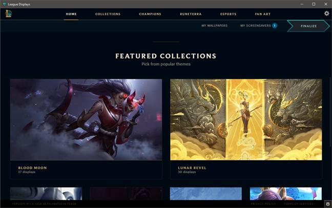 Screensavere și fundaluri de desktop din League of Legends