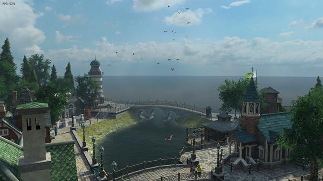 Screensaver-ul Sun Village - Nvidia Edition