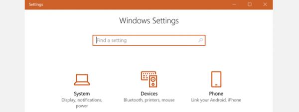 Setari Windows 10