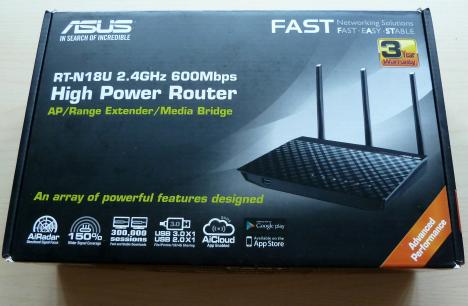 ASUS RT-N18U - un router wireless router ce utilizează standardul 802.11n