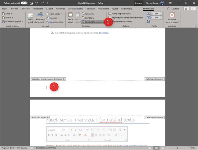 Microsoft Word - Legătură la anteriorul