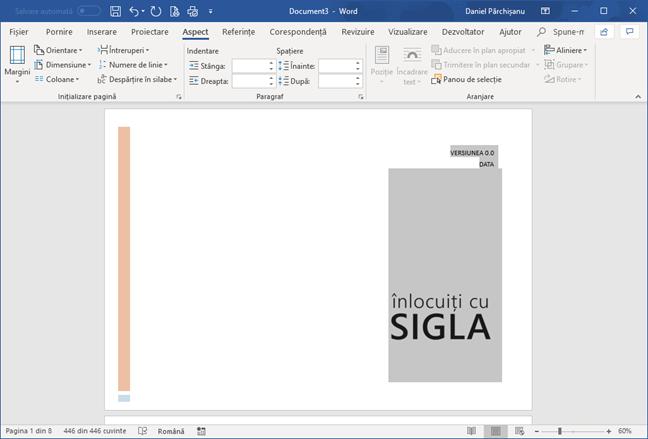 Orientarea Vedere în Microsoft Word