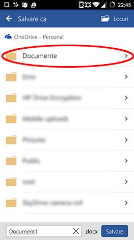 Android, Microsoft, Office, Word, document, creaza, editeaza, salveaza