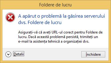 Windows 8.1, Work Folders, Foldere de lucru, configurare