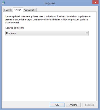 Cum se schimbă regiunea pentru Windows 8 & aplicațiile Windows 8