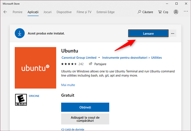 Deschiderea unei distribuții de Linux instalate recent