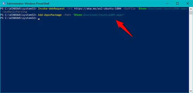 Instalarea unei distribuții de Linux cu PowerShell