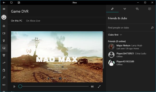 Xbox, aplicatie, Windows 10