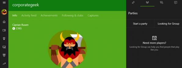 Aplicatia Xbox