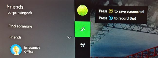 Xbox One, captura, ecran, imagine, screenshot, consola