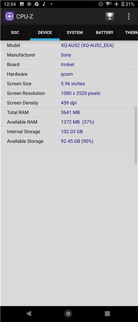 Detalii hardware despre Sony Xperia 10 II