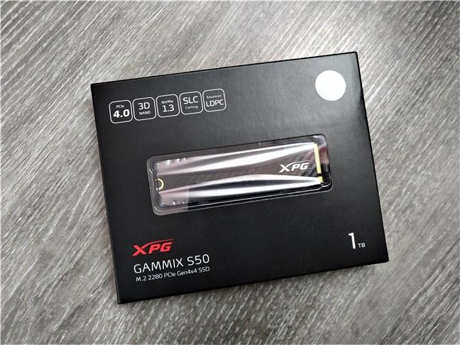 Cutia SSD-ului ADATA XPG Gammix S50