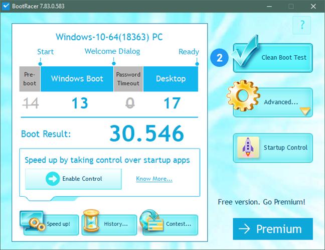Timpul de pornire al Windows 10 cu SSD-ul ADATA XPG Gammix S50